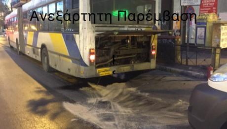Έκρηξη σε λεωφορείο στην Πατησίων