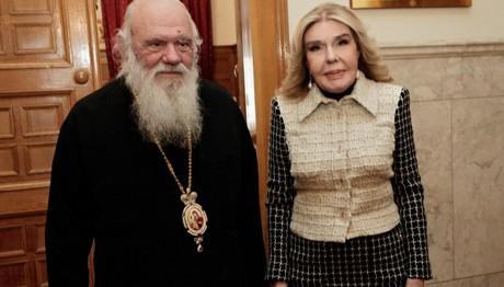 Συνάντηση Αρχιεπισκόπου με την κα Μαριάννα Βαρδινογιάννη