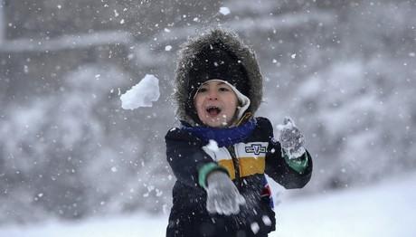Χιονόπτωση στον Χορτιάτη Θεσσαλονίκης