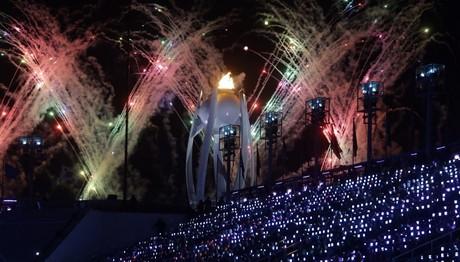 Φωτογραφία από την τελετή λήξης των Χειμερινών Ολυμπιακών