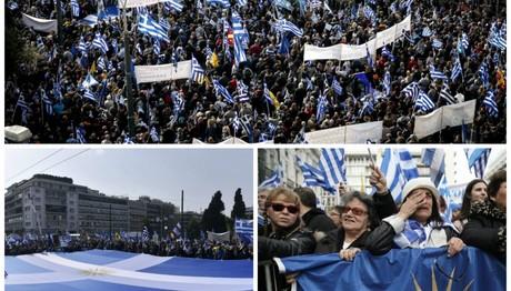 Λαοθάλασσα στο Σύνταγμα στο συλλαλητήριο για τη Μακεδονία
