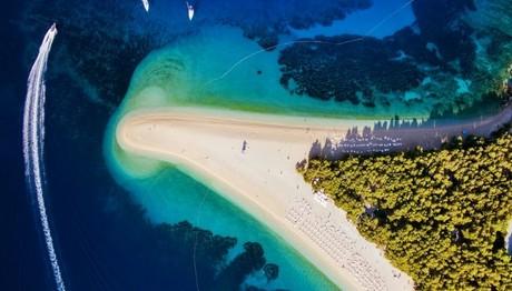 Η παραλία Zlatni Rat της Κροατίας από ψηλά
