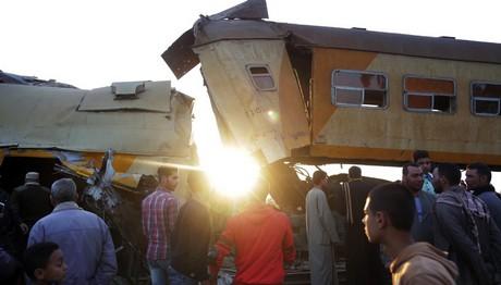 Αίγυπτος: Επτά οι νεκροί από τη σύγκρουση των τρένων