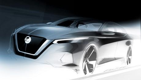 Ένα σκίτσο από το νέο Nissan Altima