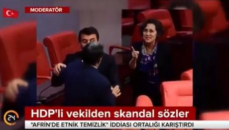 Ξύλο στην τουρκική Βουλή