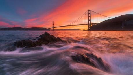 Ηλιοβασίλεμα στην Golden Gate Bridge