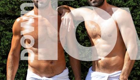 O Κωνσταντίνος Τσεπάνης φοράει μόνο την πετσέτα του