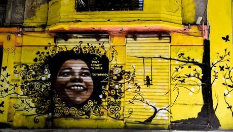 Γκράφιτι σε δρόμο της Αθήνας