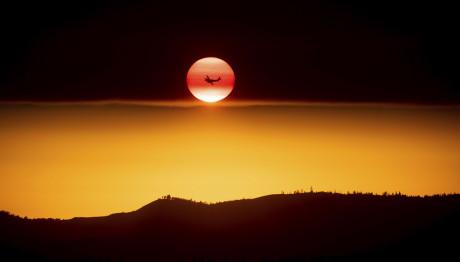 Ηλιοβασίλεμα στις φλόγες