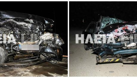 Σφοδρή σύγκρουση οχημάτων στην Ηλεία
