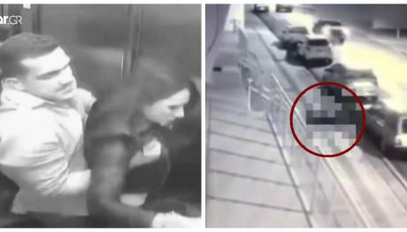 Κάμερες ασφαλείας δείχνουν τον βίαιο θάνατο της 29χρονης από τον άντρα της