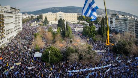 Το συλλαλητήριο για τη Μακεδονία στο Σύνταγμα