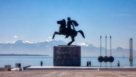 Το άγαλμα του Μεγάλου Αλεξάνδρου στην παραλία της Θεσσαλονίκης