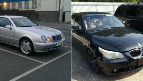 Mercedes και BMW αυτοκίνητα σε διπλή εικόνα