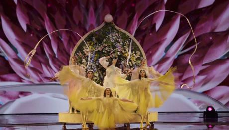 Η Κατερίνα Ντούσκα στη σκηνή της Eurovision