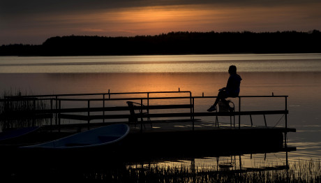 Ηλιοβασίλεμα στη Λιθουανία
