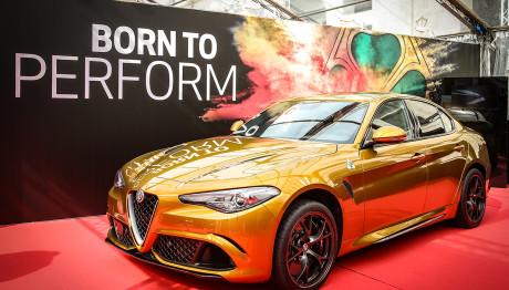 Ochre Alfa Romeo Giulia QV