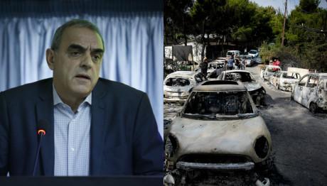 Ο Γιάννης Καπάκης και στιγμιότυπο από την τραγωδία στο Μάτι