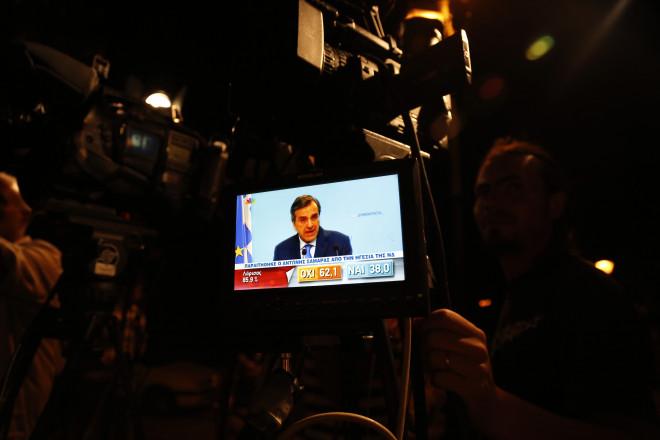 Ο πρόεδρος της ΝΔ Αντ. Σαμαράς παραιτείται μετά το δημοψήφισμα