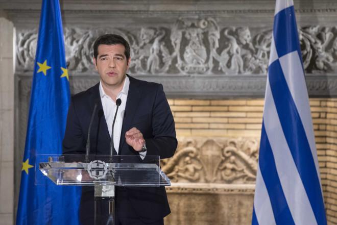 O πρωθυπουργός Αλέξης Τσίπρας ανακοινώνει τη διενέργεια δημοψηφίσματος στις 5 Ιουλίου 2015 για την πρόταση των Θεσμών
