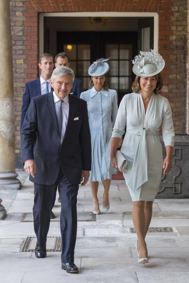 Michael και Carole Middleton με την Pippa Middleton και τον James Matthews