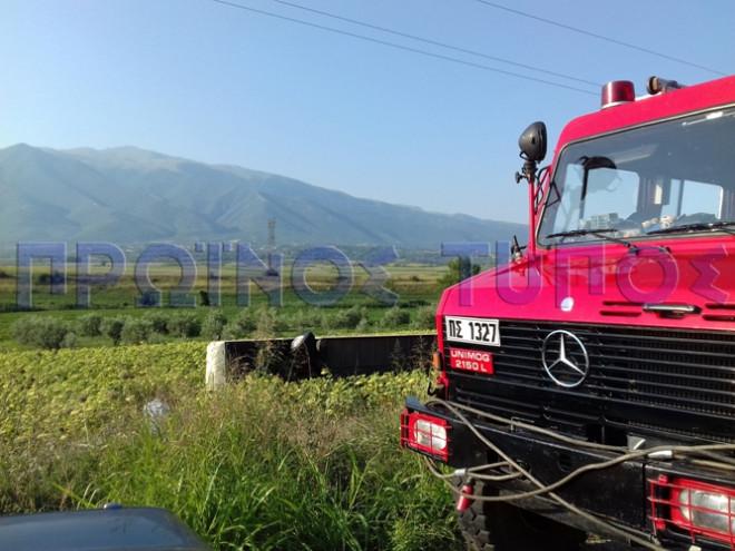 Λεωφορείο των ΚΤΕΛ ανετράπη σε χωράφι