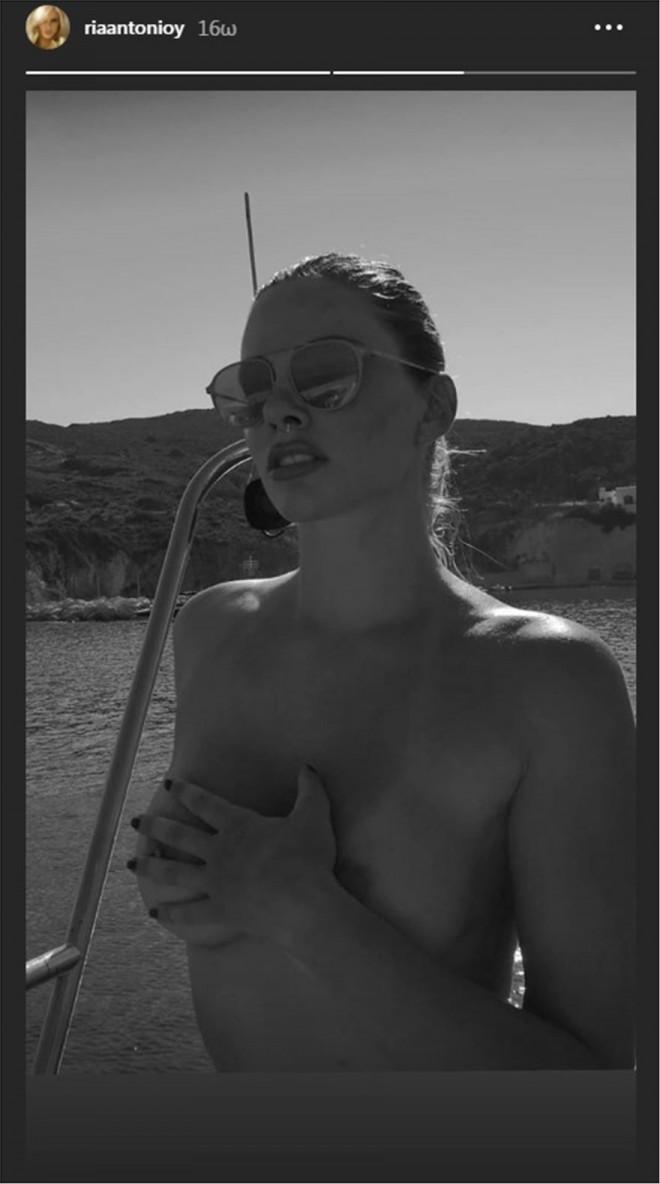 Τα σέξι instagram stories της Ρίας Αντωνίου από την Κίμωλο