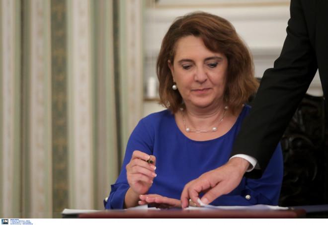 Ολυμπία Τελιγιορίδου (υφυπουργός Αγροτικής Ανάπτυξης)
