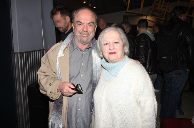 Ο Αντώνης Ξένος μαζί με τη σύζυγό του, Ελένη Γερασιμίδου