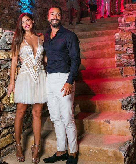 Σάκης Τανιμανίδης και Χριστίνα Μπόμπα στο pre-wedding πάρτι
