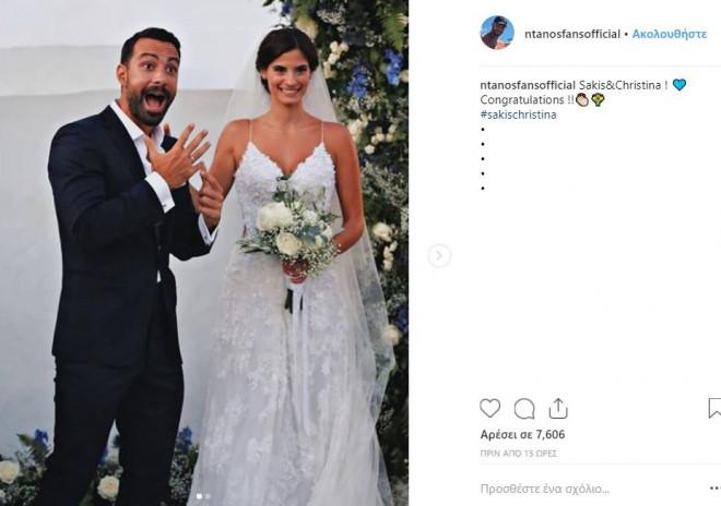 97ed8fa554a6 Ο λαμπερός γάμος του Σάκη Τανιμανίδη και της Χριστίνας Μπόμπα έγινε χθες  Σάββατο 1η Σεπτεμβρίου και σήμερα νέες φωτογραφίες από το μυστήριο και το  γαμήλιο ...