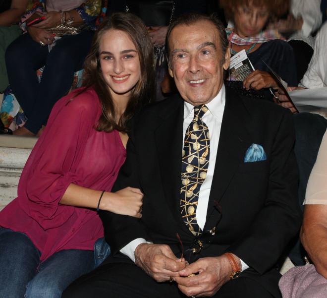 Ο Τόλης Βοσκόπουλος με την κόρη του Μαρία