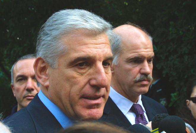 Ο Γιάννος Παπαντωνίου και ο Γιώργος Παπανδρέου