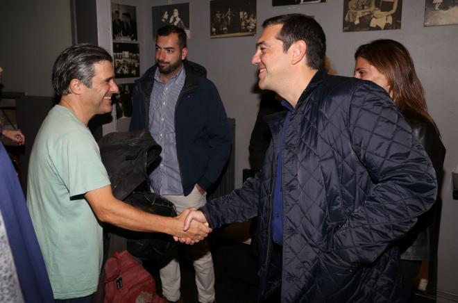 Ο κύριος Τσίπρας συγχαίρει τον ηθοποιό Γεράσιμο Γεννατά