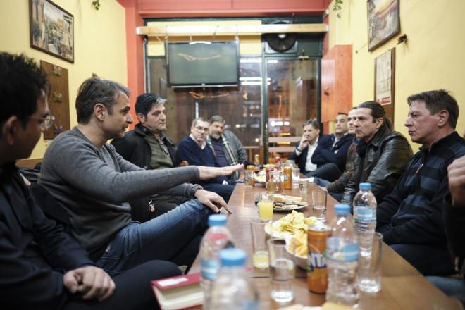 O Κυριάκος Μητσοτάκης συνάντησε πρώην χρήστες ναρκωτικών