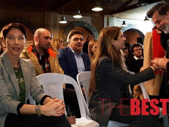 Γουέντι Κόνελι και Μαργαρίτα Παπανδρέου σε εκδήλωση για τον Ανδρέα