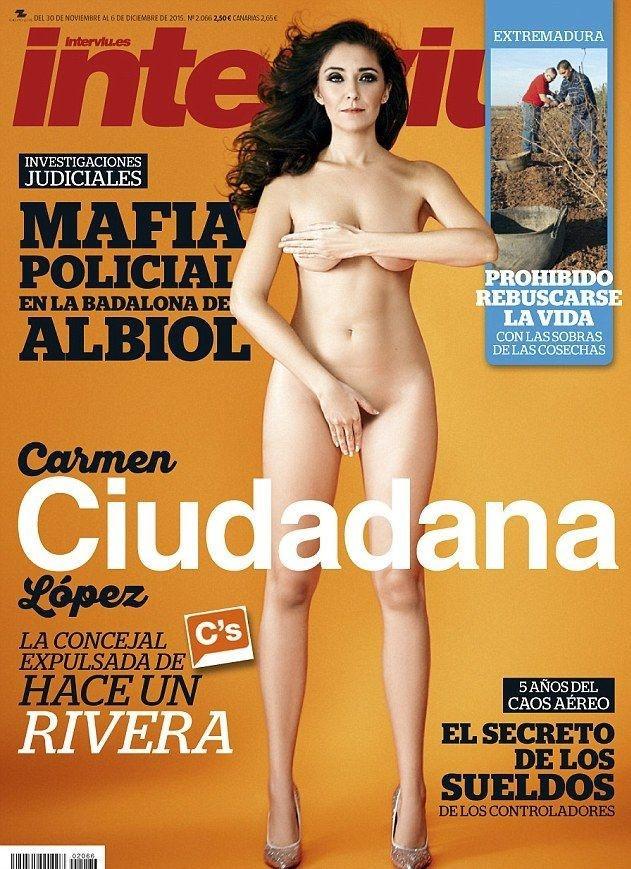 H Carmen López γυμνή σε περιοδικό