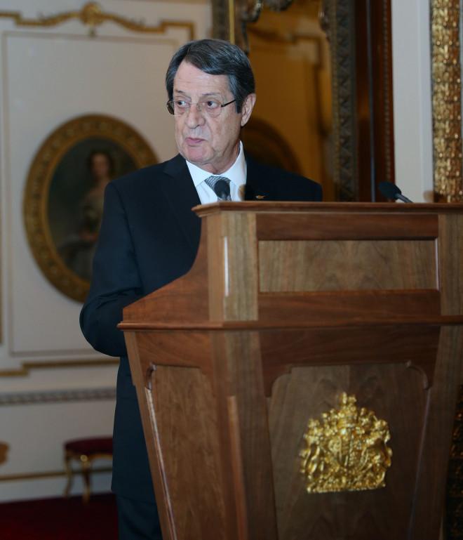 Ο Νίκος Αναστασιάδης κατά την διάρκεια της ομιλίας του
