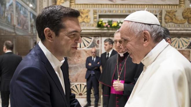 Τσίπρας και Πάπας Φραγκίσκος