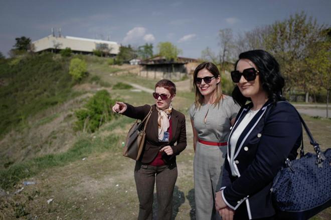 Οι κυρίες Μπαζιάνα και Ζάεβα ξεναγήθηκαν στο κάστρο των Σκοπίων