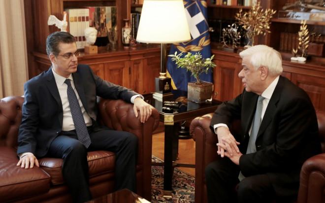 Ο κ. Σισιλιάνος με τον κ. Παυλόπουλο στο Προεδρικό Μέγαρο
