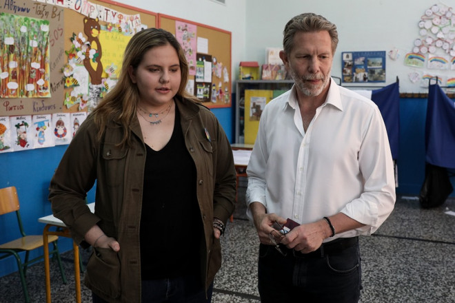 Ο Παύλος Γερουλάνος με την κόρη του