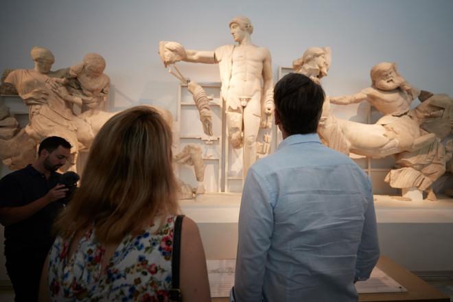 Ο Κυριάκος Μητσοτάκης στην αρχαία Ολυμπία