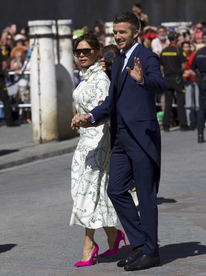 Ντέιβιντ και Βικτόρια Μπέκαμ στον γάμο του Ράμος