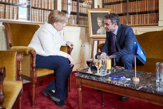 ΕΛΚ 2019: Συνάντηση Μητσοτάκη και Μέρκελ