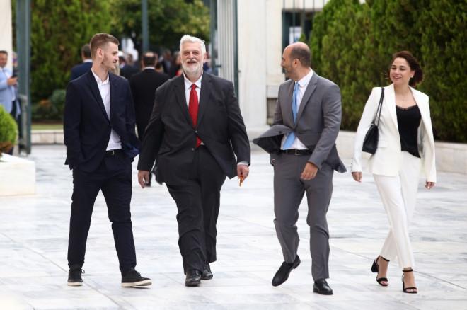 Οι βουλευτές Λοβέρδος και Μαρκόπουλος
