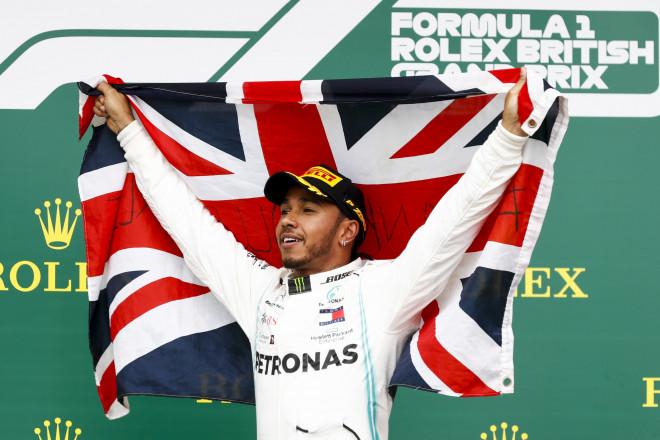 Ο Lewis Hamilton στο Βρετανικο Grand Prix