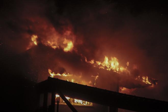 φωτιά σε σπίτι στο Μάτι