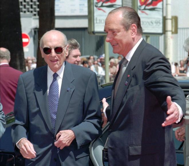 Ο Ανδρέας Παπανδρέου με τον Ζακ Σιράκ το 1994. Φωτογραφία: Associated Press