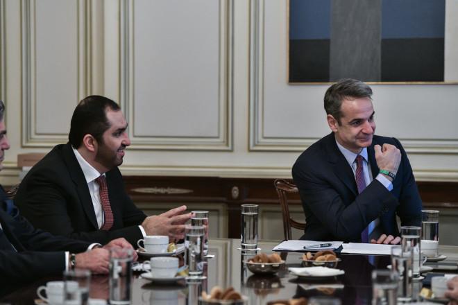Ο Μητσοτάκης σε συνάντηση με τον υπουργό Επικρατείας των ΗΑΕ